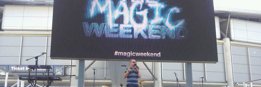 Pete Pinnington hosting the 2012 Magic Weekend